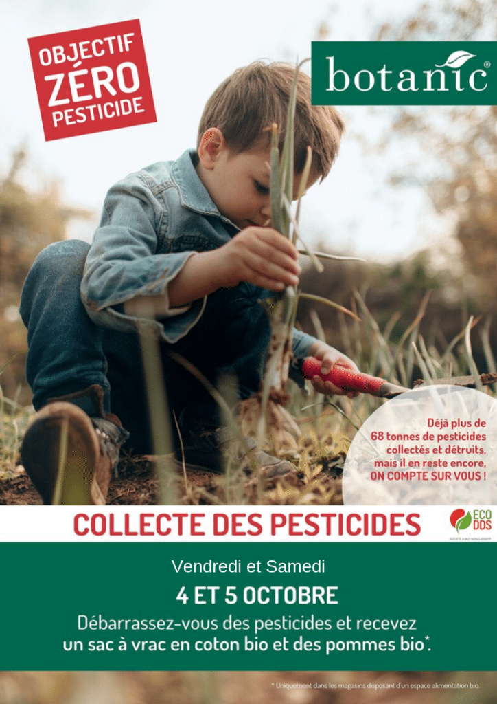 Collecte pesticides manosque botanic